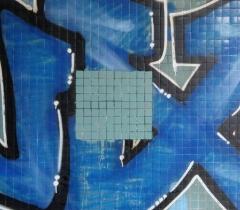 Vyčištění stěny graffiti