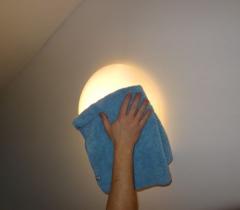 Mytí osvětlení v novostavbě