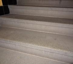 Žulové schody - původní stav