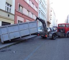 Kontejner odvoz odpadu
