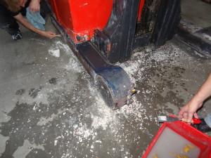 Vyčištění vysokozdvižný vozík