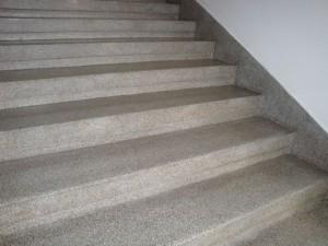 Teracové schody před vyčištěním
