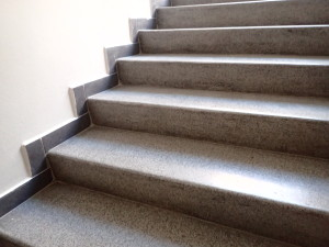 Vyleštěné terrazzo schodiště