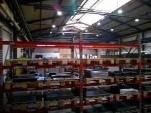 Původní stav výrobní haly