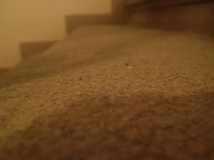 Žulové schody puvodní stav