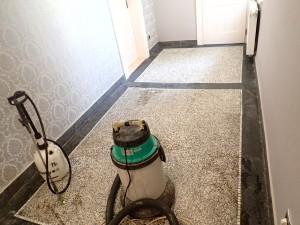 Připravá čištění terasa