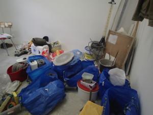 Věci připravené na čistění